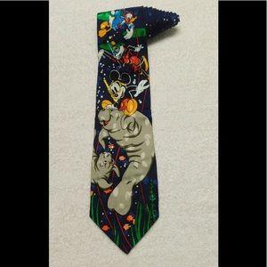 Mickey Inc Mickey Mouse Disney Walrus Necktie Tie